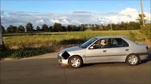 peugeot sedan peugeot 306 1 6i sedan custom exhaust sound youtube