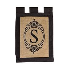 evergreen s monogram sided burlap garden