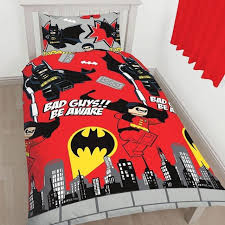 Batman Double Duvet Cover Lego Dc Comics Batman Robin Kapow Red Single Duvet Set Quilt Cover