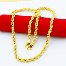 gold chain necklace rope images 24k pure gold men 39 s necklace 5mm wide 30inch rope chains necklace jpg