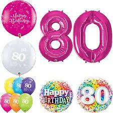 qualatex balloons age 80 happy 80th birthday qualatex balloons helium party