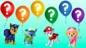 paw patrol skye u0026 chase balloon pop surprise toys challenge