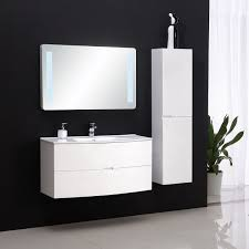 Bathroom Vanity With Side Cabinet 39 In Wall Mount Bathroom Vanity Set With Led Mirror And Side