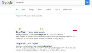 Zerg Rush Know Your Meme - 12 fun google search tricks to kill time