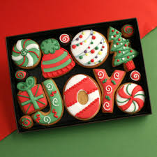 hand decorated cookies presented in a premium gift box