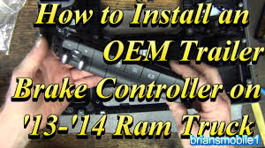 2014 ram brake controller factory type install how to youtube