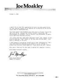 draft letter to campaign volunteer from john joseph moakley