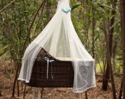wicker baby bassinet baby crib fragilis brown