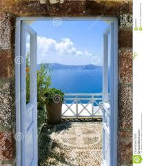 Beautiful Balcony Beautiful Sea View From The Balcony Santorini Island Greece