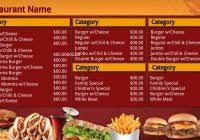free menu board template popular sample templates