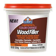 elmer u0027s 8 oz carpenter u0027s color change wood filler home depot