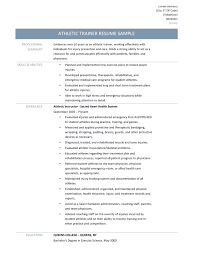 student resume tips athletic trainer resume samples tips and templates athletic trainer resume