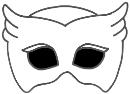 png no background halloween logo printable owlette mask with transparent background brynn u0027s pj