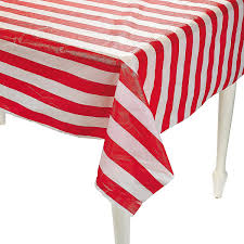 express and white striped tablecloth roll