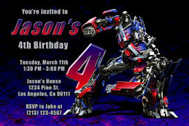 transformer birthday transformers invitations with megatron and optimus prime