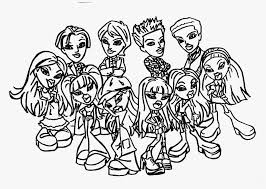 free bratz coloring pages 2016