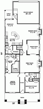 narrow cottage plans depth lot house plans cottage style for narrow lots plan des