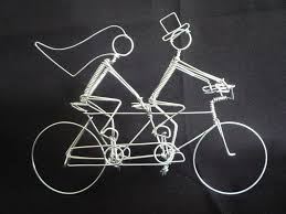 bicycle cake topper renovatory tandem bike wedding wedding cake cake topper