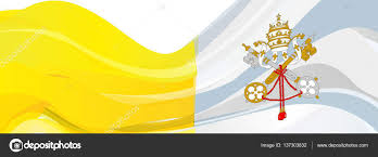 Yellow And White Flag Yellow White Flag Of The State Of Vatican City U2014 Stock Photo