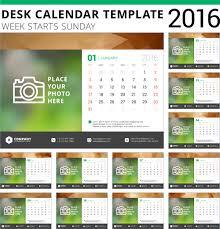 free downloadable calendar template desk calendar template 2016 vector material 06 vector calendar