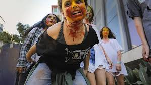 teen zombies makeup walk and