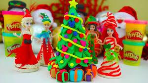 play doh christmas tree frozen disney princess youtube
