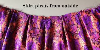 how to make the mortmain party skirt gather sewing patterns