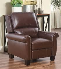 sleek recliner recliners mila leather recliner camel