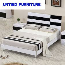 white and black modern beds selling simple bed for bedroom