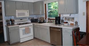 Antique Grey Kitchen Cabinets Antique White Kitchen Cabinets With White Appliances Decor K C R