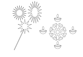 printable diwali coloring page download