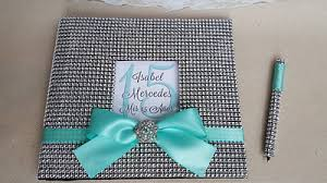 quinceanera guest book bling guest book set quinceanera sweet 16 guestbook sign