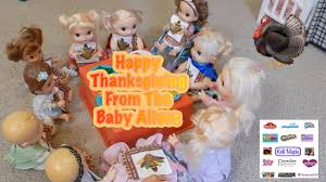 happy american thanksgiving happy thanksgiving from the baby alives youtube
