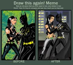Batgirl Meme - x 23 vs batgirl draw this again by marcussmiter on deviantart