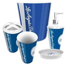 Bathroom Accessories Walmart Com by Los Angeles Dodgers Mlb Complete Bathroom Accessories 5pc Set