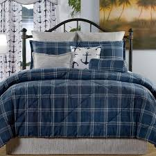 Plaid Bed Sets Navy Plaid Bedding Set Liz And Roo