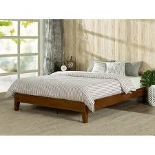 Platform Bed With Nightstands Attached Zinus Deluxe Wood Platform Bed U0026 Reviews Wayfair