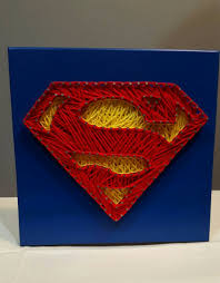 Superman Room Decor by Superman String Art Wall Decor Kids Room Or Man Cave Decor