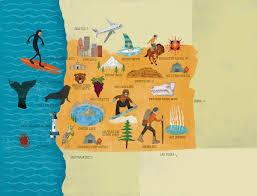 Map Of Oregon State by Oregon Map Santiago Uceda