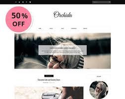 chic u0026 feminine premade blogger templates by vefiothemes on etsy