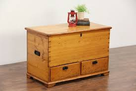 Coffee Tables Chest Country Pine Antique 1860 Trunk Or Blanket Chest Coffee Table