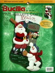 baseball santa 18 felt kit 84260 fth studio