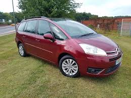 2008 citroen grand c4 picasso 1 6hdi vtr plus manual 7 seater mot