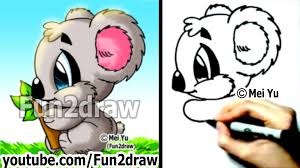 How To Draw Halloween Things Step By Step How To Draw Cartoon Animals How To Draw A Koala Drawing Step
