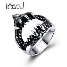 wedding rings steel images Iogou new vintage punk wedding ring for men stainless steel jpg