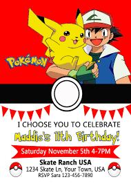 pokemon birthday invitation by fromkelliwithlove on etsy