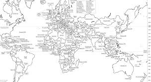 blank outline world map with countries coloring page world map map