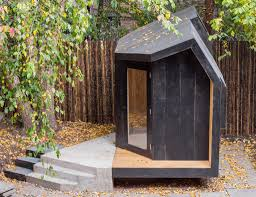 architensions u0027 writing pavilion is a tiny backyard retreat for two