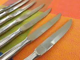 cs solingen germany stainless steak knives mid century modern