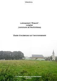 bureau d etude environnement etude d incidences sur l environnement de catégorie n 1